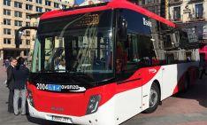 Uno de los nuevos autobuses urbanos de Soria.