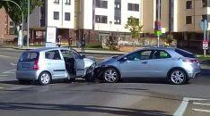 Los vehículos tras el accidente./SN