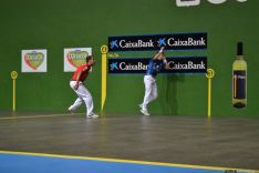 Imagen de la final del trofeo de pelota San Saturio. /SN