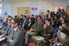 Un momento de la visita del consejero de empleo a Soria este viernes. / SN