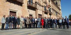 Parlamentarios regionales y provinciales, así como autoridades locales y agentes sociales este viernes. / Jta.