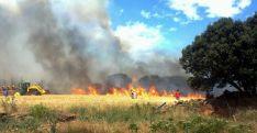 Un incendio forestal en la provincia en una imagen de archivo./SN