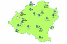 El mapa del tiempo este jueves./eltiempo.es