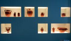 Vasijas de cerámica en el museo de Quintana Redonda.