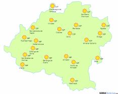 El tiempo para este domingo en Soria. /www.eltiempo.es