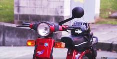 Imagen de la moto numantina.