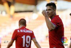 Un fallo de la defensa permite el gol del Numancia. LFP