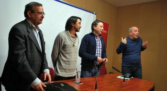 De Lózar (izda.), Romero, Sainz y García este martes. / SN