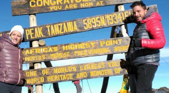 Los dos sorianos en la cumbre más alta de África. / SN