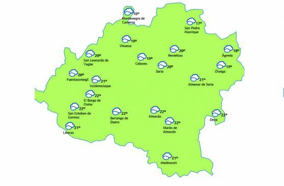 El mapa para este martes 11./eltiempo.es