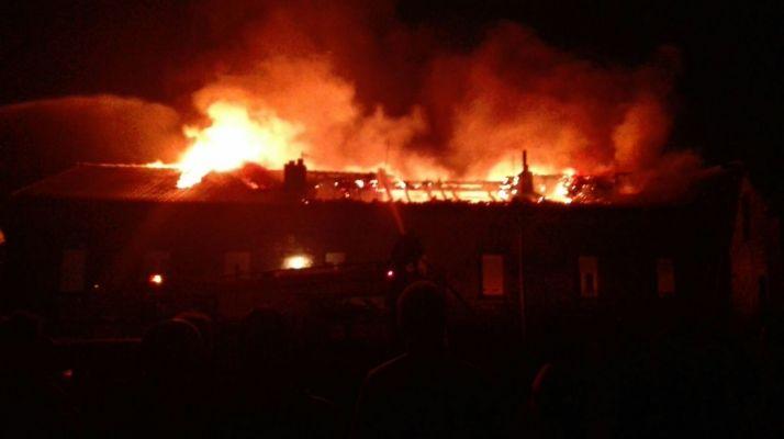 Incendio en Quintanar de la Sierra