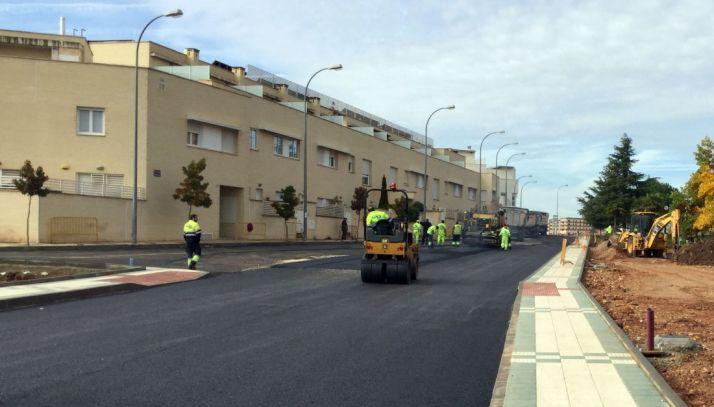 Las obras del nuevo vial en esta zona de la capital. / Ayto.