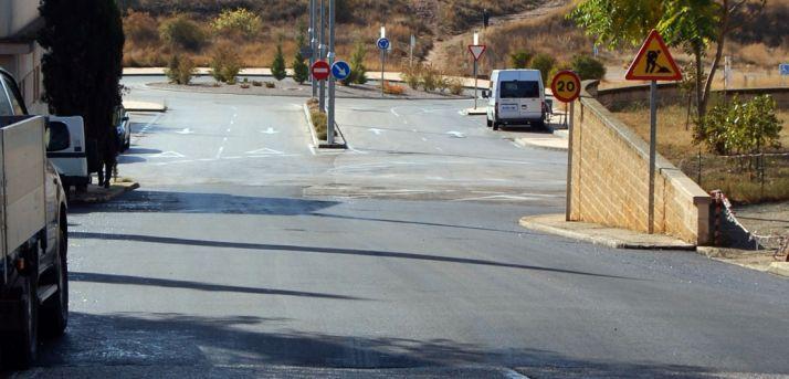 Zona asfaltada cerca del cementerio. / Ayto.