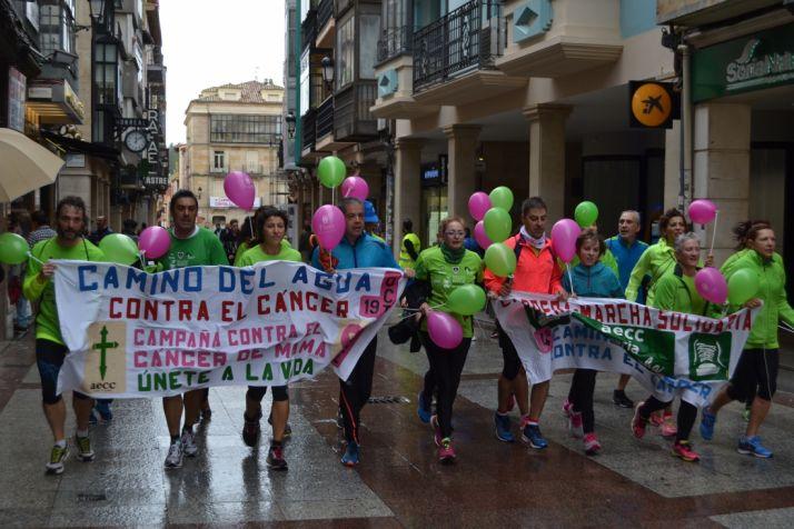 Grupo participante en la marcha contra el cáncer. /SN