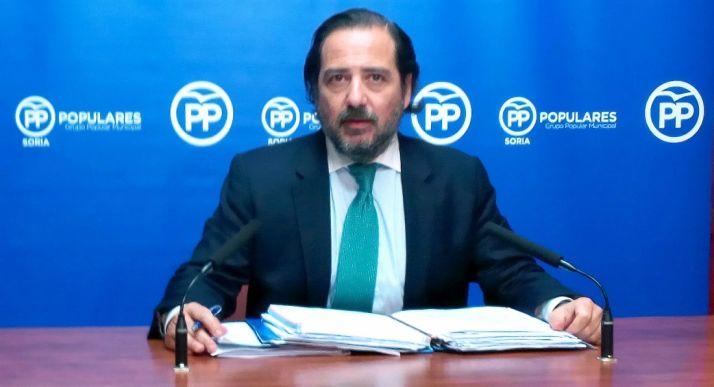 José Manuel Hernando este lunes en rueda informativa. / SN