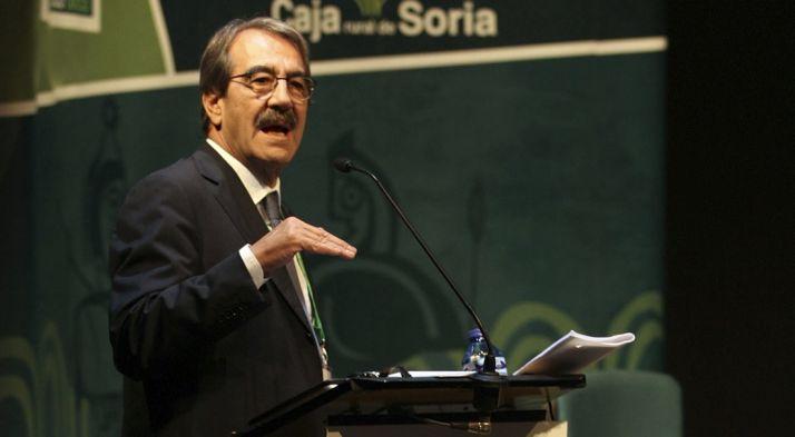 Emilio Ontiveros este mediodía en el Foro Económico de Caja Rural. / SN
