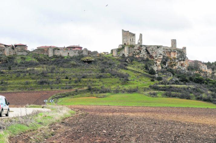 Vista del castillo de Calatañazor.