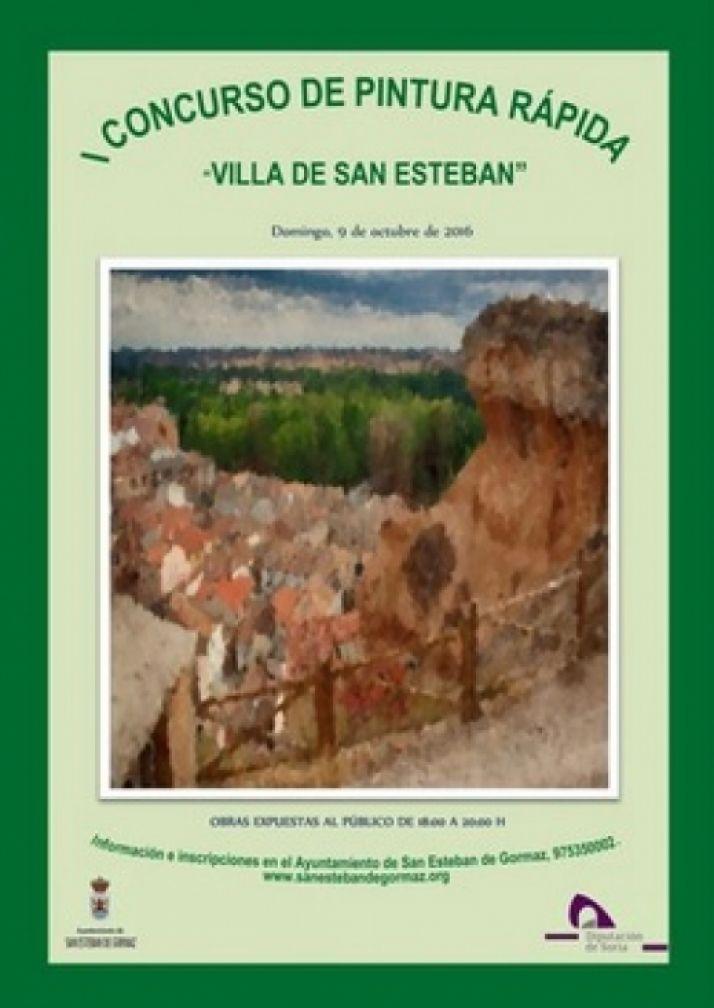 Foto 1 - Concurso de pintura rápida en San Esteban