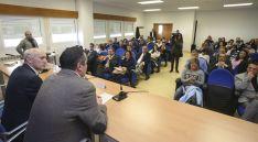 Luis Fernández Regalado, (izda.) en la jornada este miércoles en el Campus. / SN