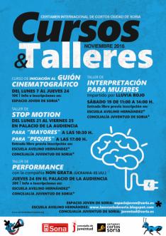 Cursos de Juventud del Ayuntamiento de Soria para este cuarto trimestre