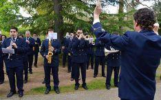 La Banda adnamantina en una actuación.