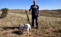 José Antonio Fresno y su perro.