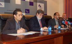 Andrés (izda.), Aparicio, Rey y Angulo este viernes en rueda de prensa. / Dip.
