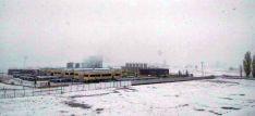 Una zona del polígono industrial de Ólvega esta mañana de miércoles. / SN