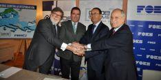 Los dirigentes empresariales este martes en Cuenca. / FOES