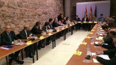 Reunión mantenida con la comisaria europea en Teruel este jueves. / FOES