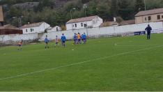 Imagen del entrenamiento del Sporting Uxama contra el Cristo Atlético. CRISTO ATLÉTICO