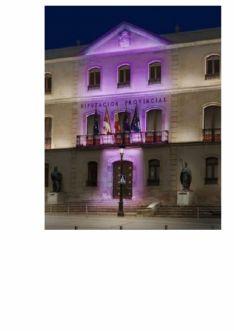 Palacio Provincial iluminado