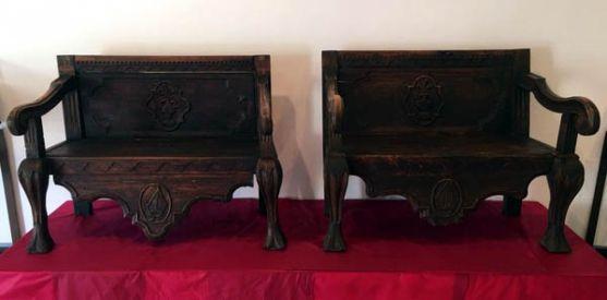 Las dos piezas cedidas en depósito al Ayuntamiento burgense.
