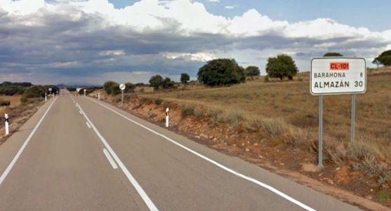 La carretera en el límite con Guadalajara./GM