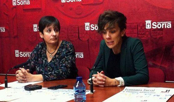 Ana Romero (izda.) e Inés Andrés este martes. / Ayto.