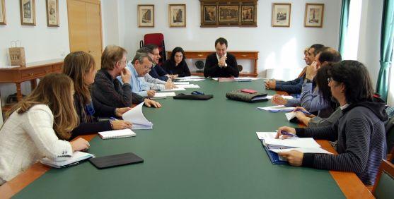 La reunión de este miércoles en el ayuntamiento. / Ayto.