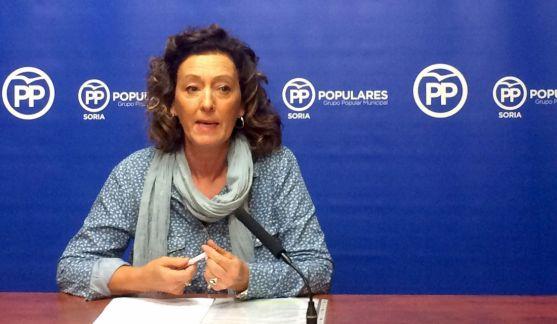 María Pérez, concejal del PP en el Ayuntamiento de Soria.