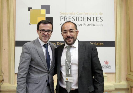 El presidente de la Diputación de Soria, Luis Rey, en la conferencia. /Dip.