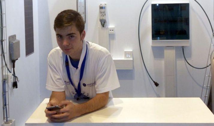 El joven estudiante del CEIP Pico Frentes.