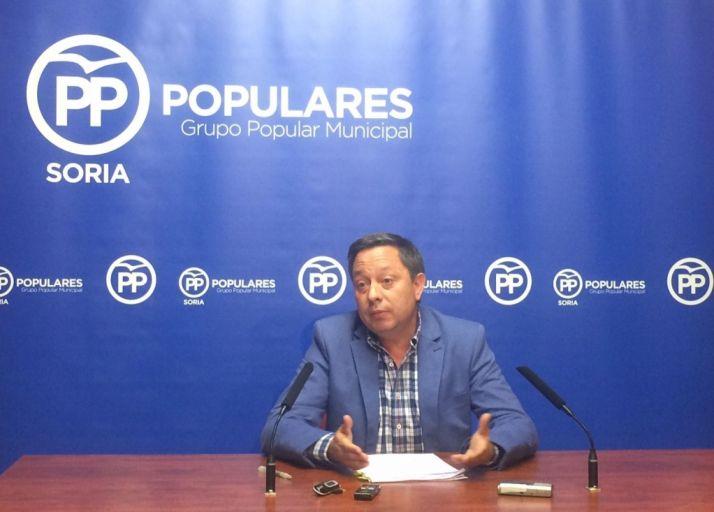 Adolfo Sainz, portavoz popular en el Ayuntamiento de Soria