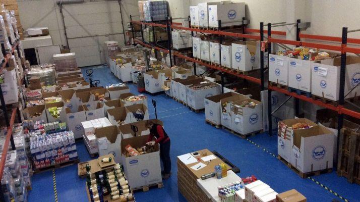 El almacén del BALSO este lunes, a falta de recibir las donaciones en la provincia. / BALSO