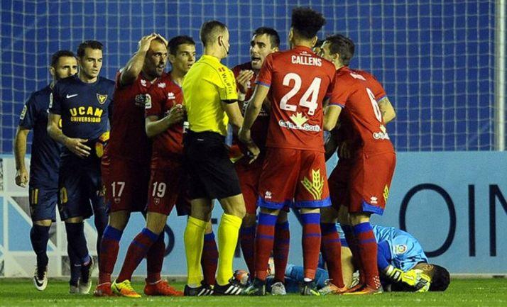 Imagen del partido en Murcia./LFP