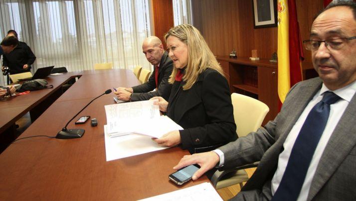La consejera este martes en la Delegación Territorial de la Junta en Soria. / SN