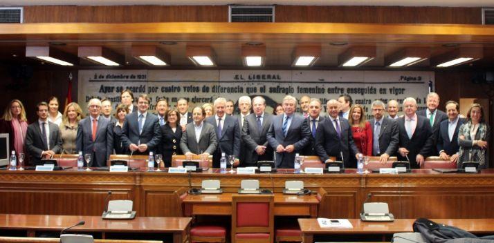 El grupo de senadores castellanoleoneses.