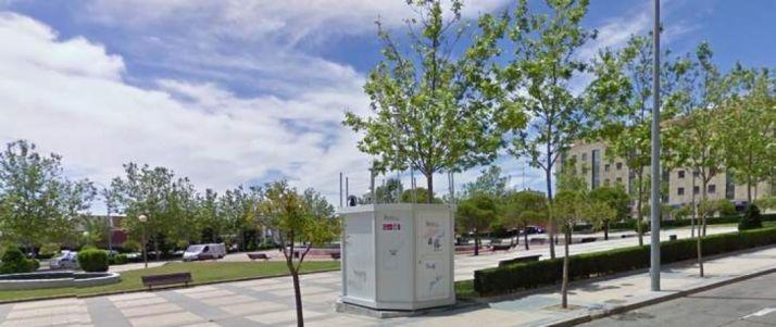 Estación de medición de aire en Salamanca.