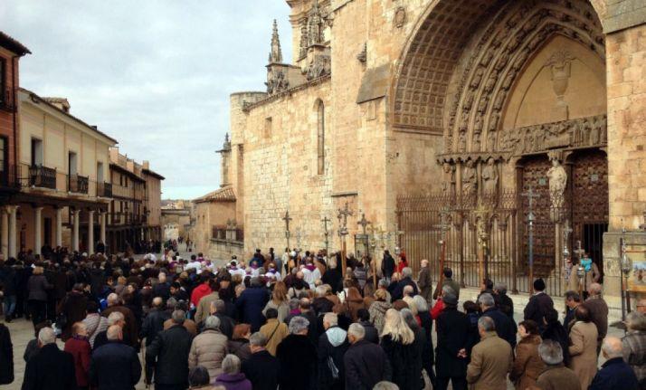Una peregrinación jubilar en El Burgo. /SN