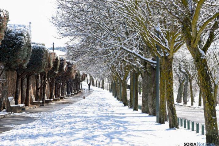 La nieve en el entorno de El Mirón. SN