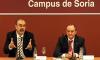 Fernando Rey y Daniel Miguel San José, este lunes en el Campus.