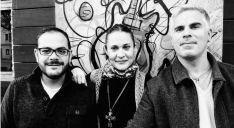 Vega, Gómez y Prego, miembros del grupo.