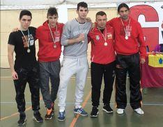 Los deportistas sorianos, en Ontígola.